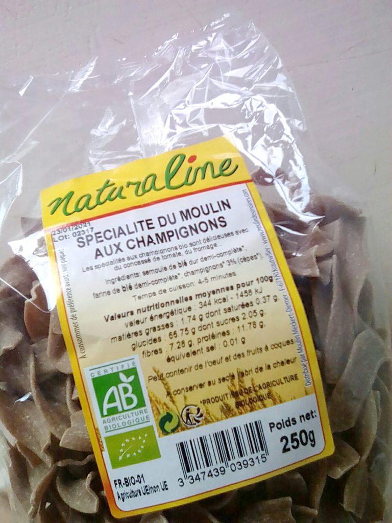 Poulet rôti et pâtes aux cèpes bio