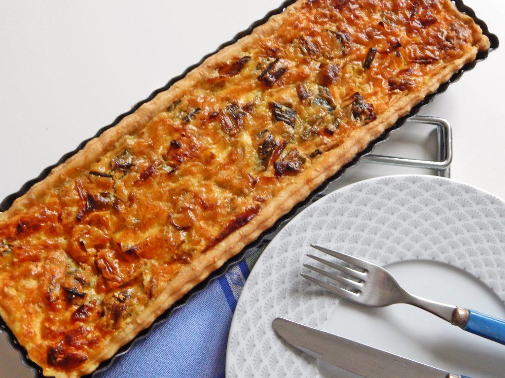 Tarte aux poireaux et au parmesan
